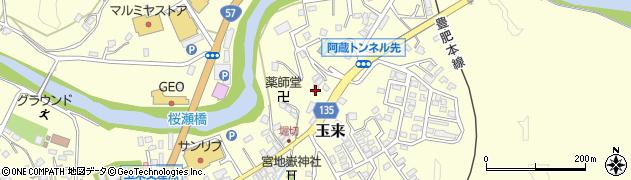 大分県竹田市玉来661周辺の地図