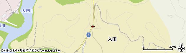 大分県竹田市入田3164周辺の地図