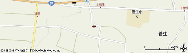 大分県竹田市菅生416周辺の地図