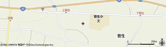 大分県竹田市菅生468周辺の地図