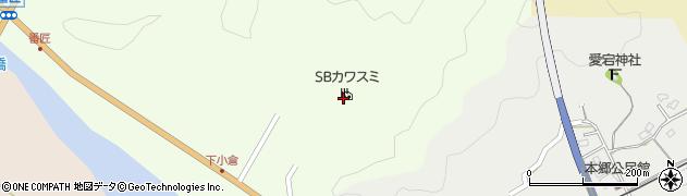 大分県佐伯市弥生大字小田1077周辺の地図