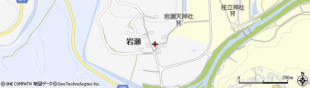 大分県竹田市岩瀬231周辺の地図