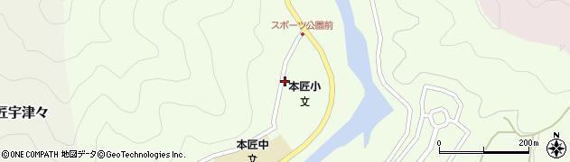 大分県佐伯市本匠大字笠掛周辺の地図