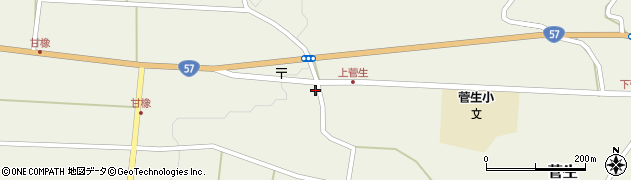 大分県竹田市菅生450周辺の地図