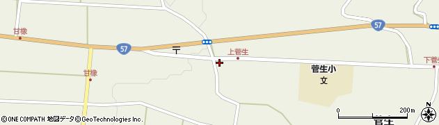 大分県竹田市菅生452周辺の地図