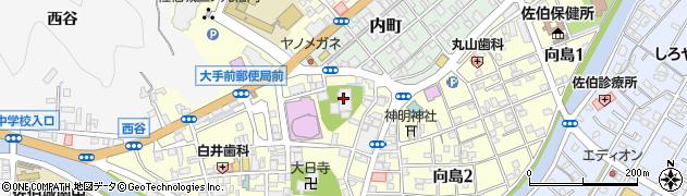 潮谷寺周辺の地図