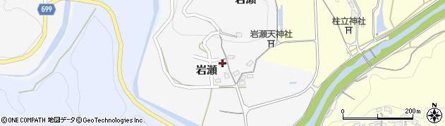 大分県竹田市岩瀬332周辺の地図