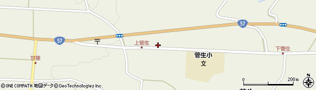 大分県竹田市菅生1126周辺の地図