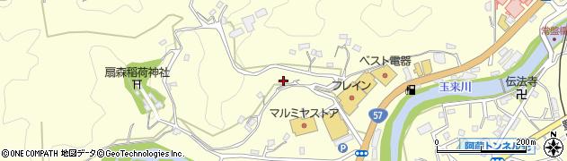 大分県竹田市拝田原694周辺の地図