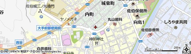 大分県佐伯市内町4周辺の地図
