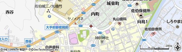 大分県佐伯市内町6周辺の地図