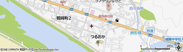 大分県佐伯市鶴岡町2丁目周辺の地図