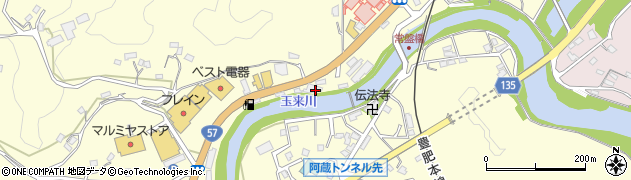 大分県竹田市拝田原466周辺の地図