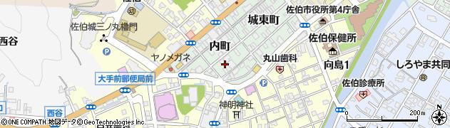 大分県佐伯市内町3周辺の地図