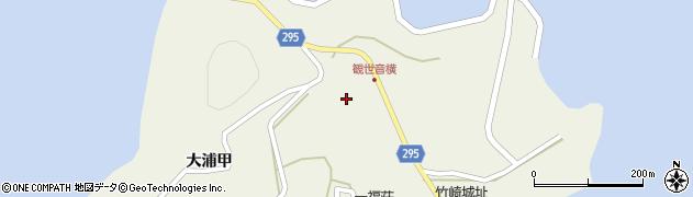 竹崎観世音寺周辺の地図