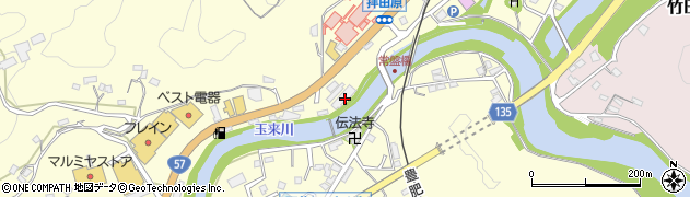 大分県竹田市拝田原460周辺の地図