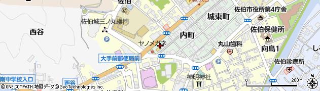 大分県佐伯市内町8周辺の地図