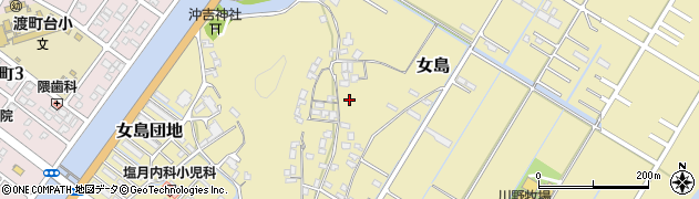 大分県佐伯市女島区周辺の地図