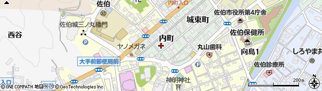 大分県佐伯市内町周辺の地図