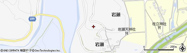 大分県竹田市岩瀬390周辺の地図