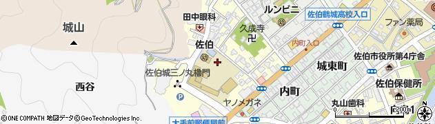 大分県佐伯市城下西町周辺の地図