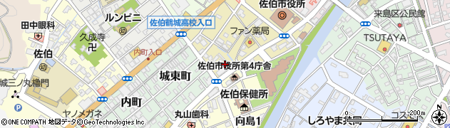 大分県佐伯市中村南町9周辺の地図