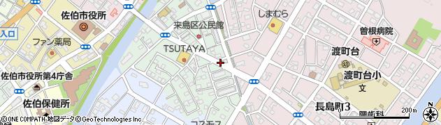 大分県佐伯市来島町17周辺の地図