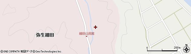 大分県佐伯市弥生大字細田1628周辺の地図