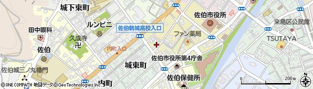 大分県佐伯市中村南町7周辺の地図