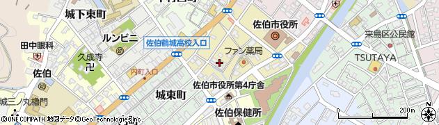 大分県佐伯市中村南町8周辺の地図