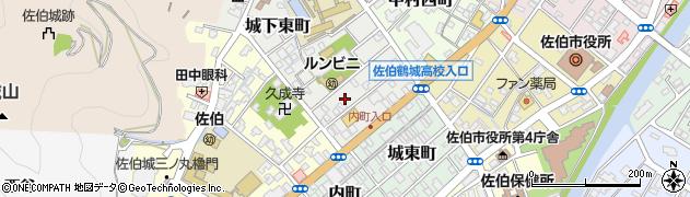 大分県佐伯市城下東町周辺の地図