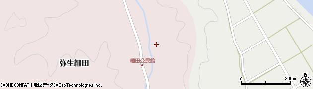 大分県佐伯市弥生大字細田1630周辺の地図