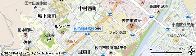 大分県佐伯市中村南町6周辺の地図