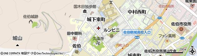 大分県佐伯市城下東町6周辺の地図