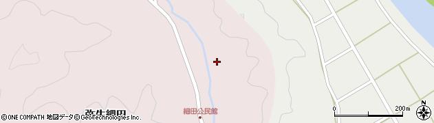 大分県佐伯市弥生大字細田1580周辺の地図