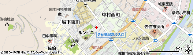 大分県佐伯市城下東町3-12周辺の地図