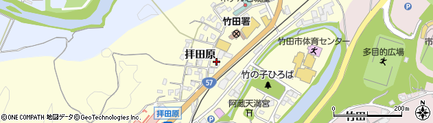 大分県竹田市拝田原238周辺の地図