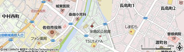 大分県佐伯市来島町2周辺の地図