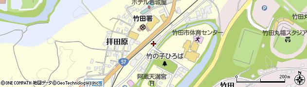 大分県竹田市拝田原233周辺の地図