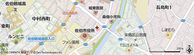大分県佐伯市中村東町2周辺の地図