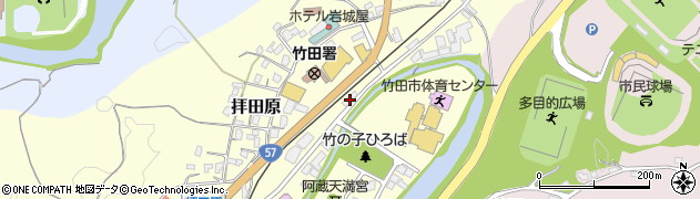 大分県竹田市拝田原218周辺の地図