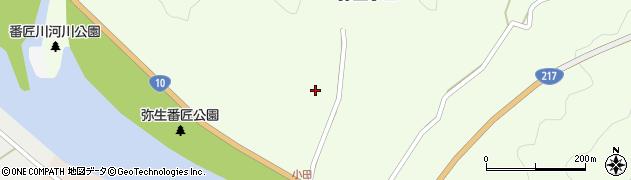 大分県佐伯市弥生大字小田383周辺の地図