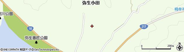 大分県佐伯市弥生大字小田小田周辺の地図