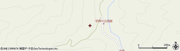 大分県佐伯市本匠大字宇津々ツル周辺の地図
