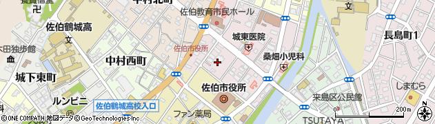 大分県佐伯市中村東町4周辺の地図