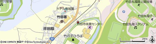 大分県竹田市拝田原204周辺の地図