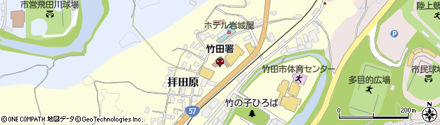 大分県竹田市拝田原221周辺の地図