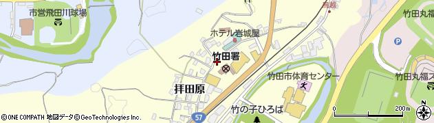 大分県竹田市拝田原224周辺の地図
