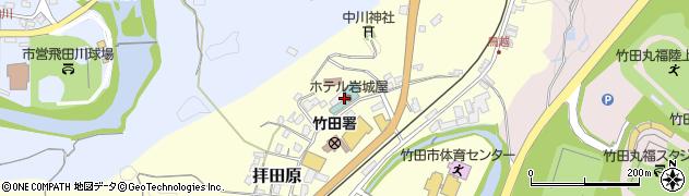 大分県竹田市拝田原161周辺の地図