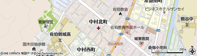 大分県佐伯市中村北町3周辺の地図